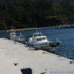 島根県隠岐島の港