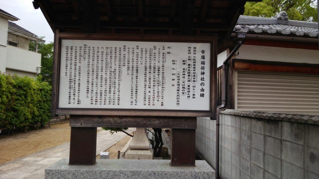 市場稲荷神社の由緒