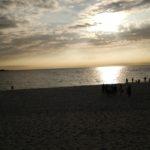 白良浜の夕日
